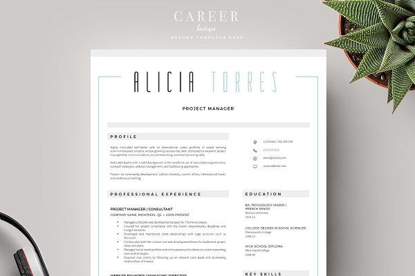 Modern Resume & CoverLetter Template ~ Cover Letter ...