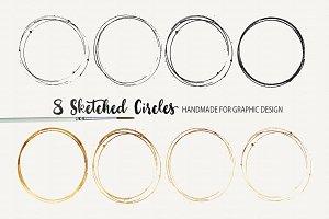 8 Hand Sketched Circles