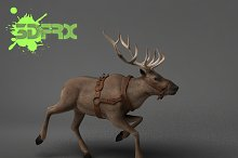 REINDEER (Rigged&Posed) by  in Animals