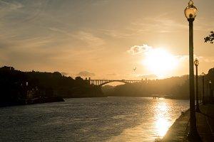 golden hour in porto.