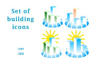 Set of building icons & logos