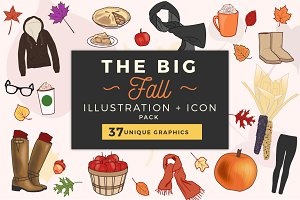 Fun Fall Illustrations + Icons