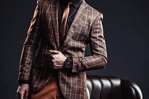 stylish man in studio