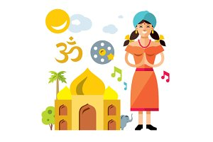 India Travel Concept