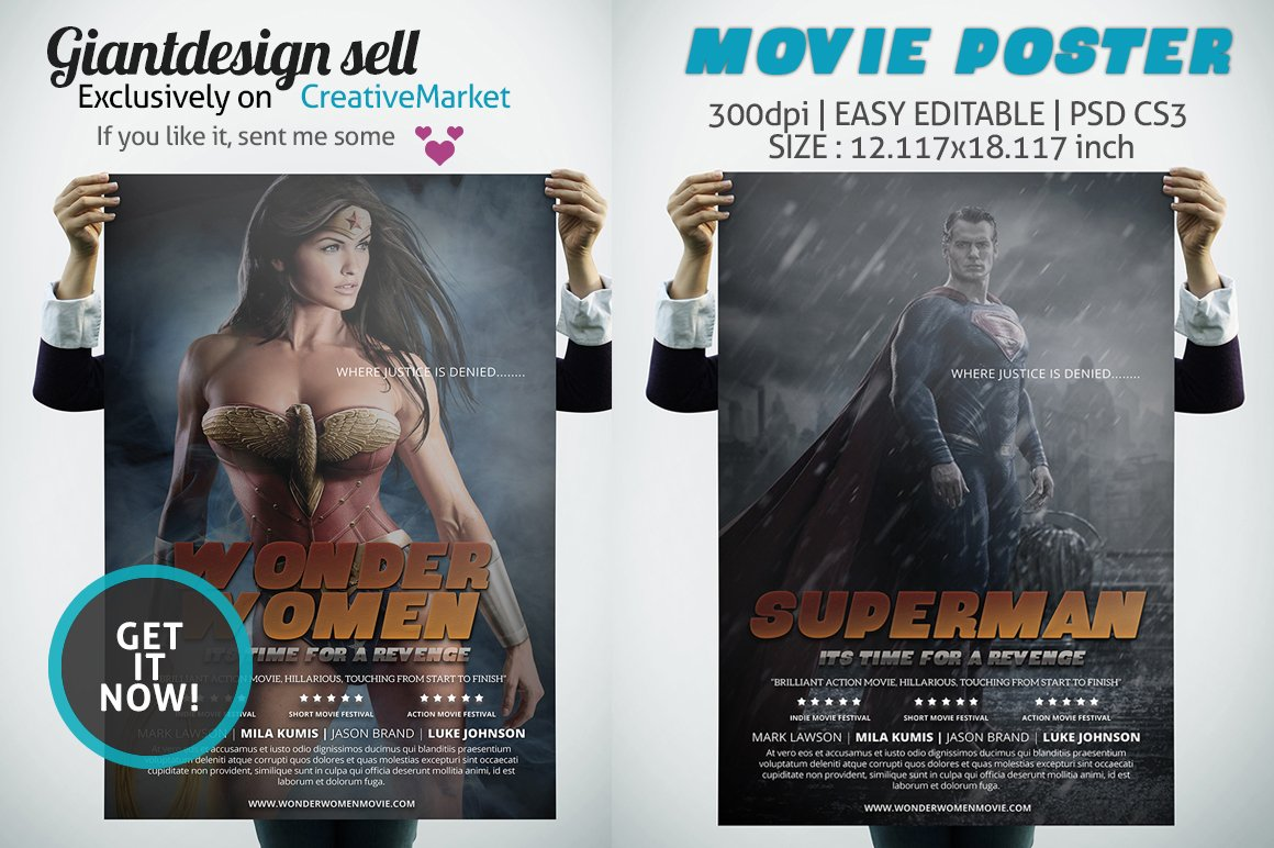 Movie Poster ~ Flyer Templates ~ Creative Market