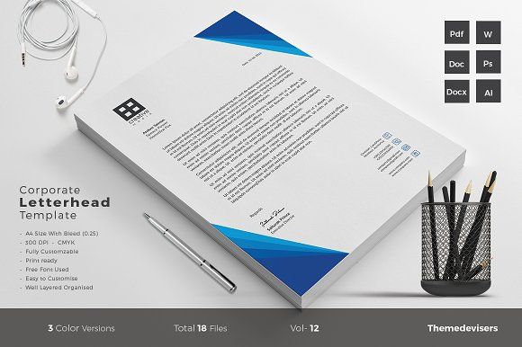 Letterhead stationery templates creative market spiritdancerdesigns Choice Image