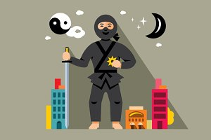 Ninja in the night city