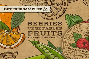 Vintage Fruits and Vegetables