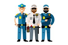 Policeman and Security