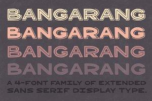 Bangarang 4 Font Family