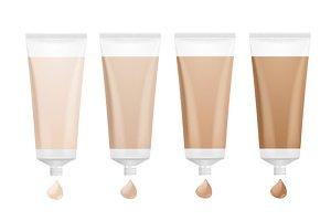 Foundation Cream Palette. Vector