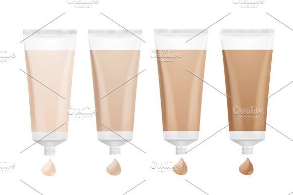 Foundation Cream Palette. Vector - Objects