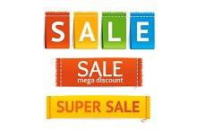 Clothes Sale Labels Set. Vector