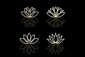 Lotus, conceptual flowers