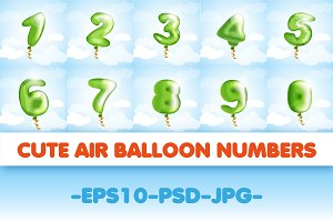 Air balloon numbers