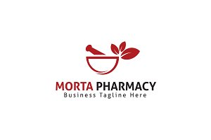 Morta pharmacy Logo Template