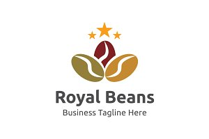 Royal Beans Logo Template