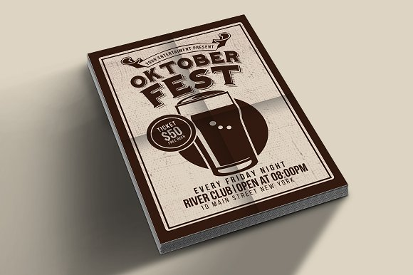 Oktober Fest Beer Party in Flyer Templates - product preview 1