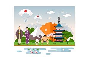 Landmarks and symbols of Japan