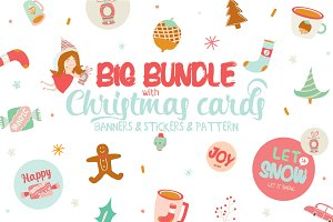 Christmas bundle: cards & banners