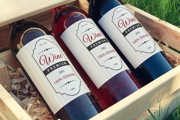 Wine Bottle Label Mock-up #9