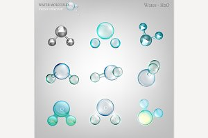 Water molecules set