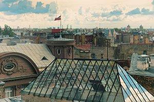 Roofs of Riga. Latvia