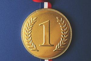 Gold first place medal