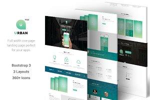 Urban - One Page App Landing (PSD)