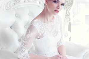 Young gorgeous bride