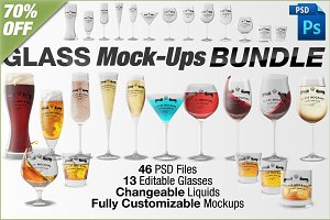 Glass Mockups Bundle