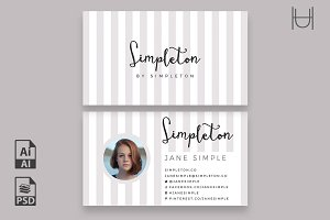 Simpleton Business Card Template