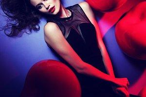 Young woman fashion shoot