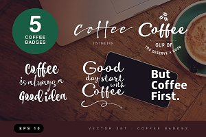 Coffee badges ( vector )