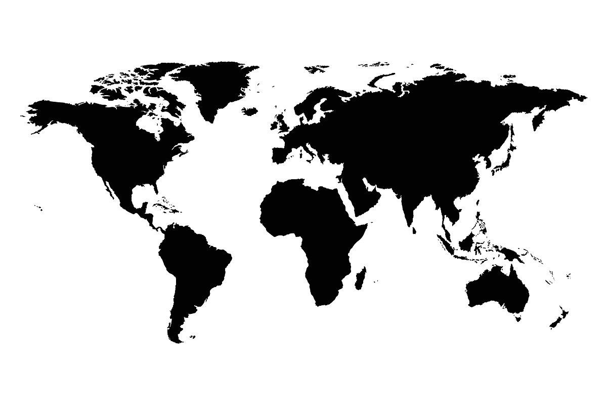 World Map Silhouette world map silhouette ~ Illustrations ~ Creative Market