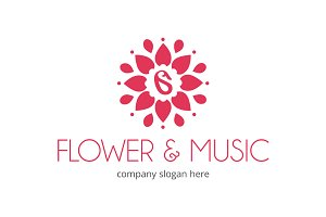 Flower and Music Logo