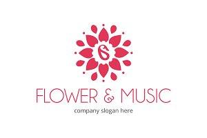 Flower and Music Logo