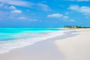Ideal white beach in the Caribbean