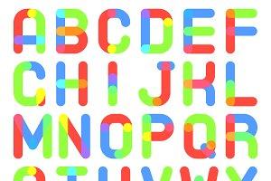 Round Font Alphabet