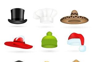 3d top hats different professions