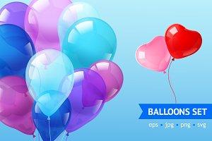 Realistic Balloons Set