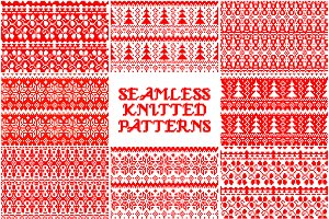 10 Knitted Christmas pattern