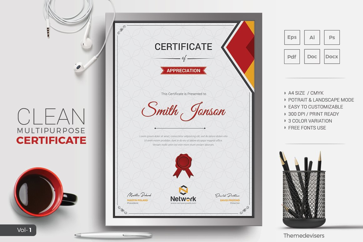 Certificate stationery templates creative market yadclub Image collections
