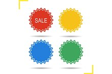 Sale stickers. Vector