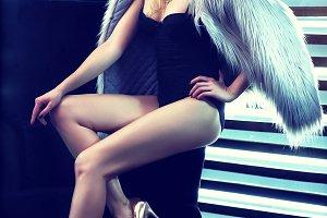 Retro fashion woman