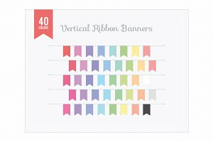 Vertical Ribbon Banners