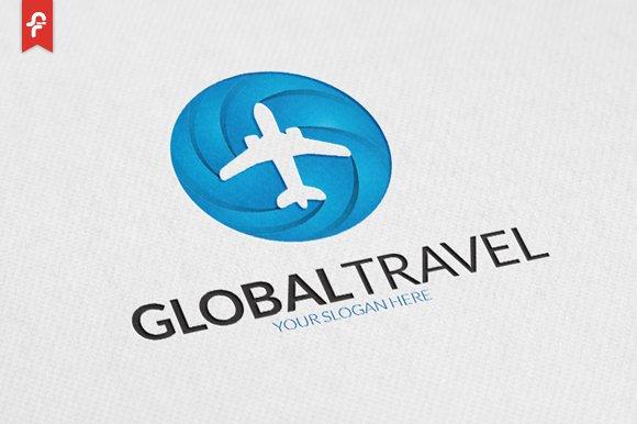 Global Travel Logo Templates Creative Market
