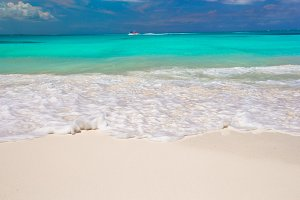 Perfect white beach with turquoise water