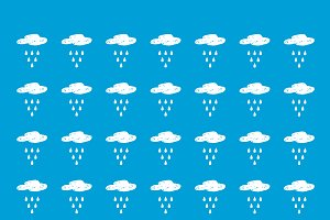 Rainy clouds pattern