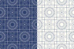 6 seamless patterns Arabic ornaments